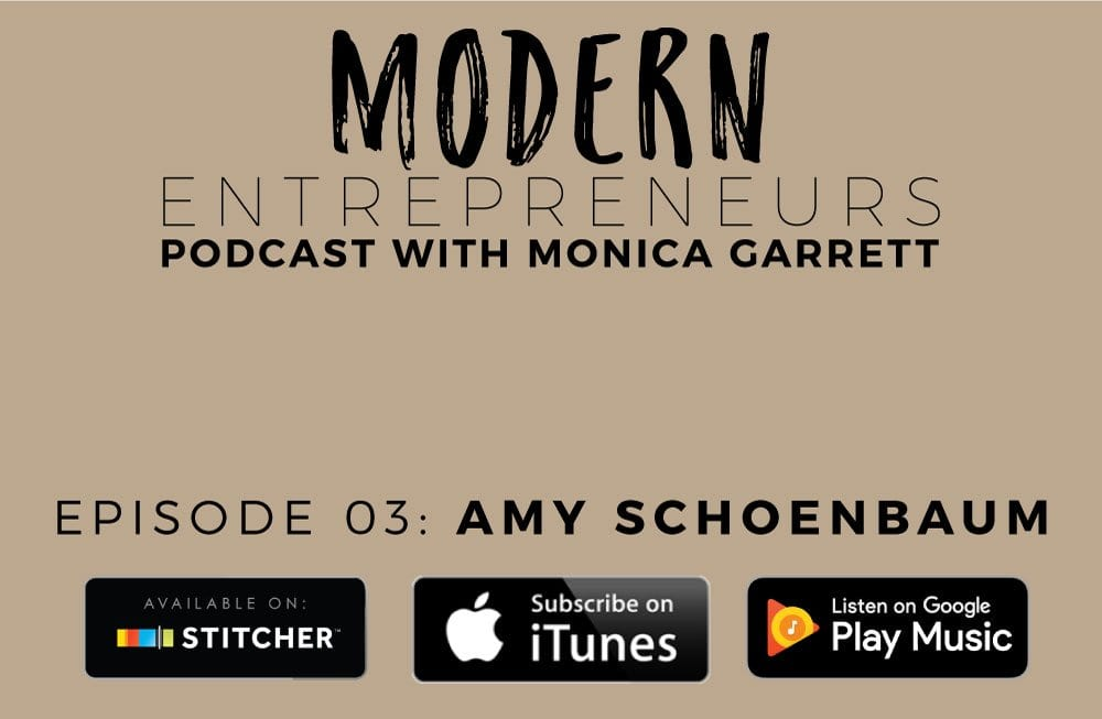 Modern Entrepreneurs Podcast with Amy Schoenbaum Episode 03