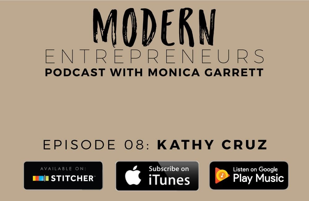 MODERN ENTREPRENEURS PODCAST EPISODE 8 WITH KATHY CRUZ