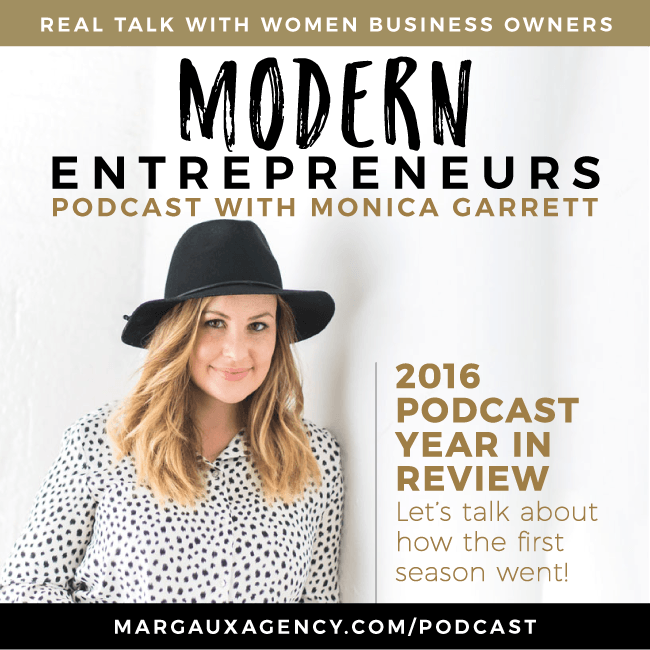 EP15: Modern Entrepreneurs Podcast Wrap Up of 2016 with Monica Garrett