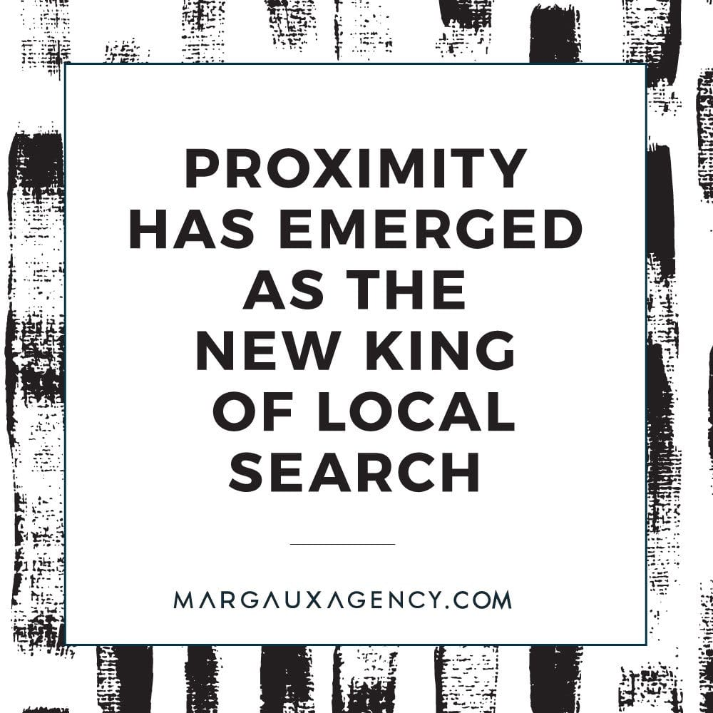 PROXIMITY HAS EMERGED AS THE NEW KING OF LOCAL SEARCH