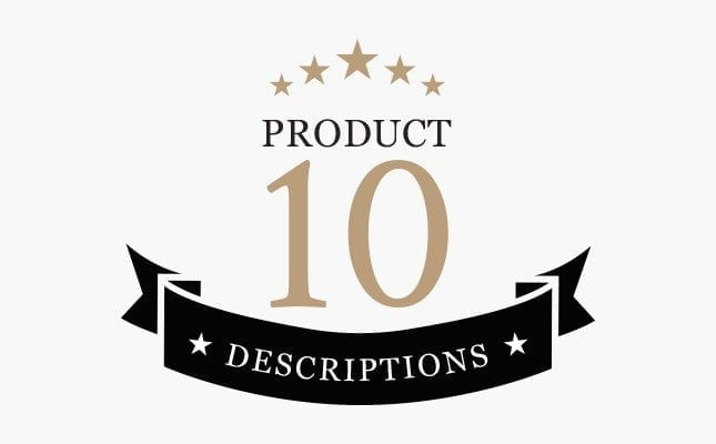 10 Written Product Description Service