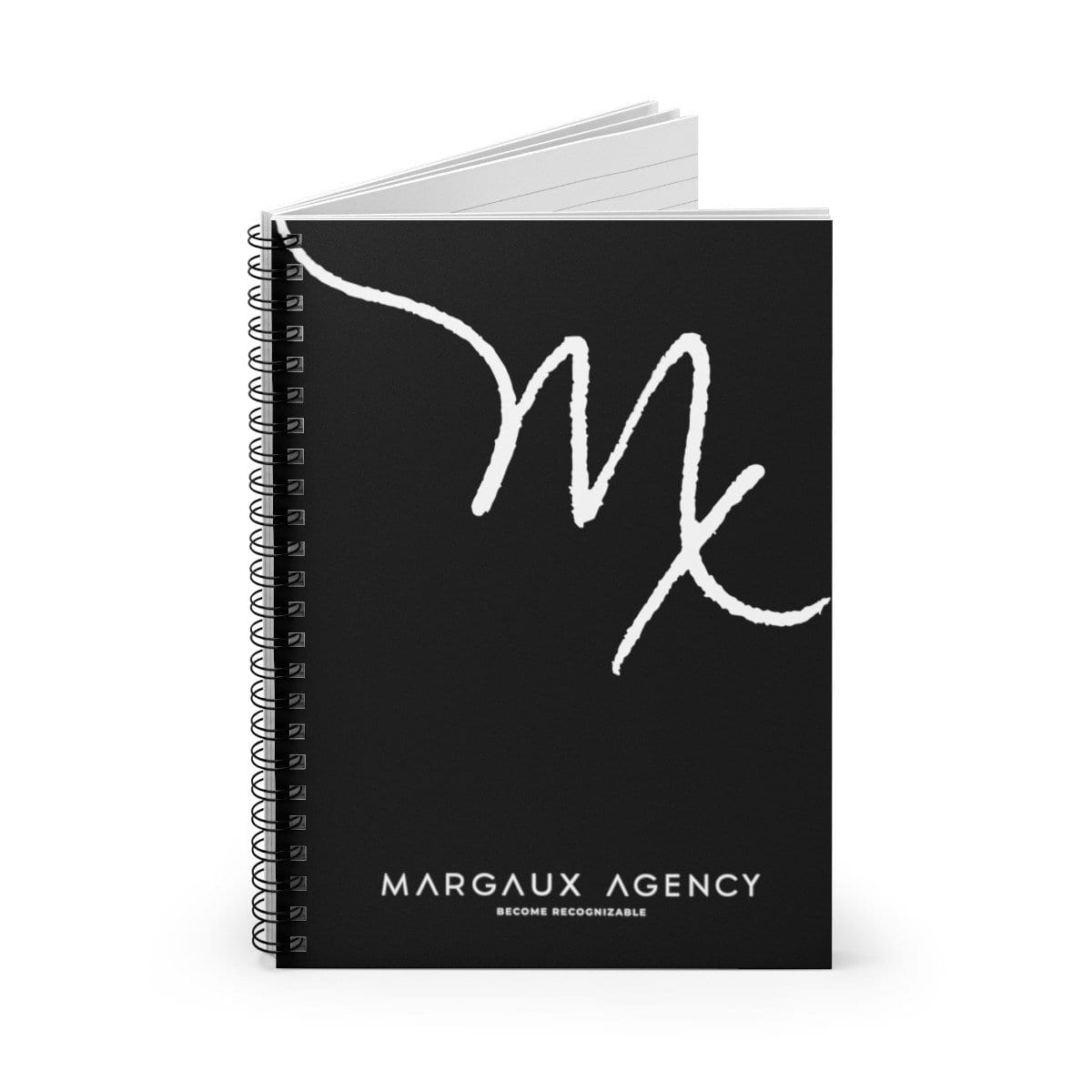 Margaux Agency Black Lined Notebook