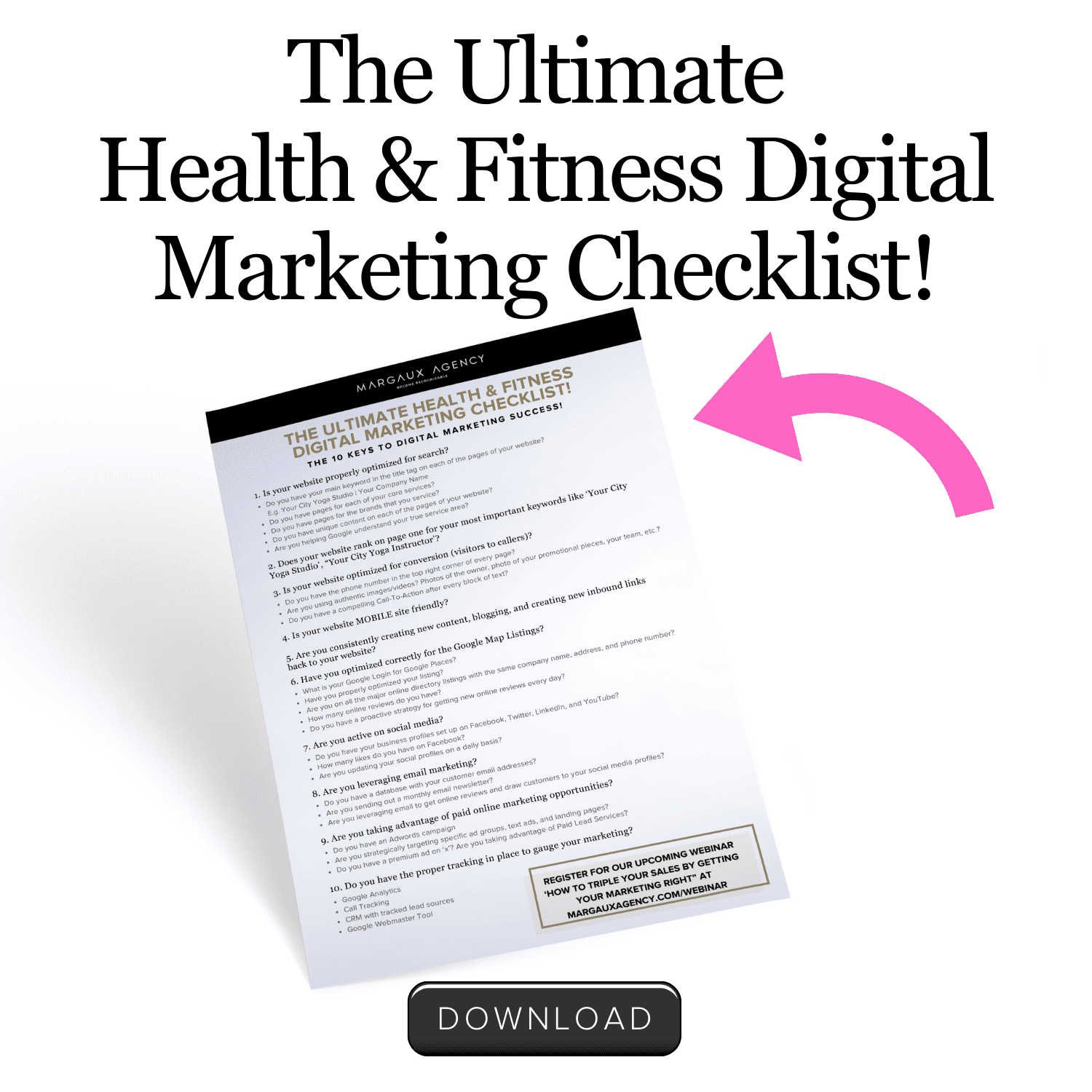 Ultimate Marketing Checklist for Health & Fitness Marketing