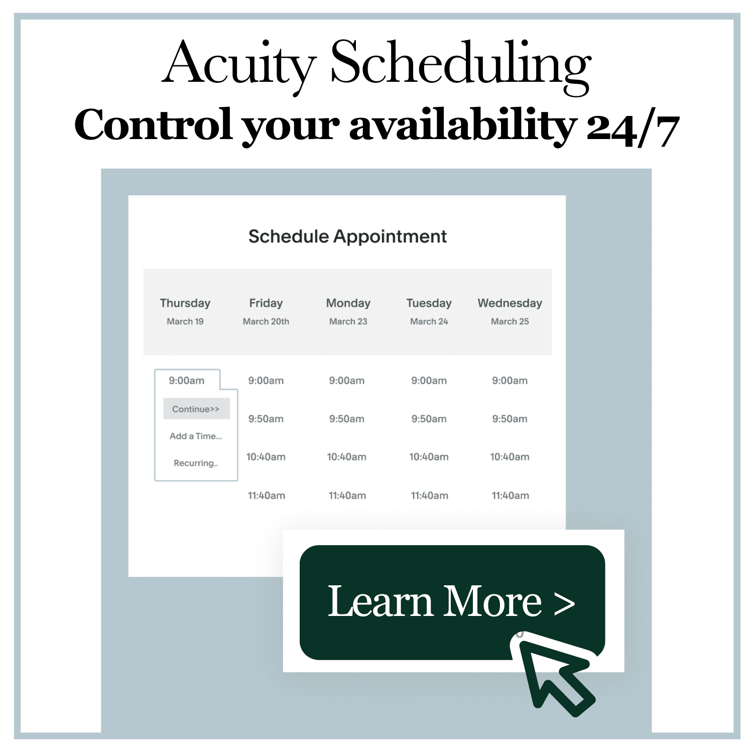Acuity Scheduling Coupon Code